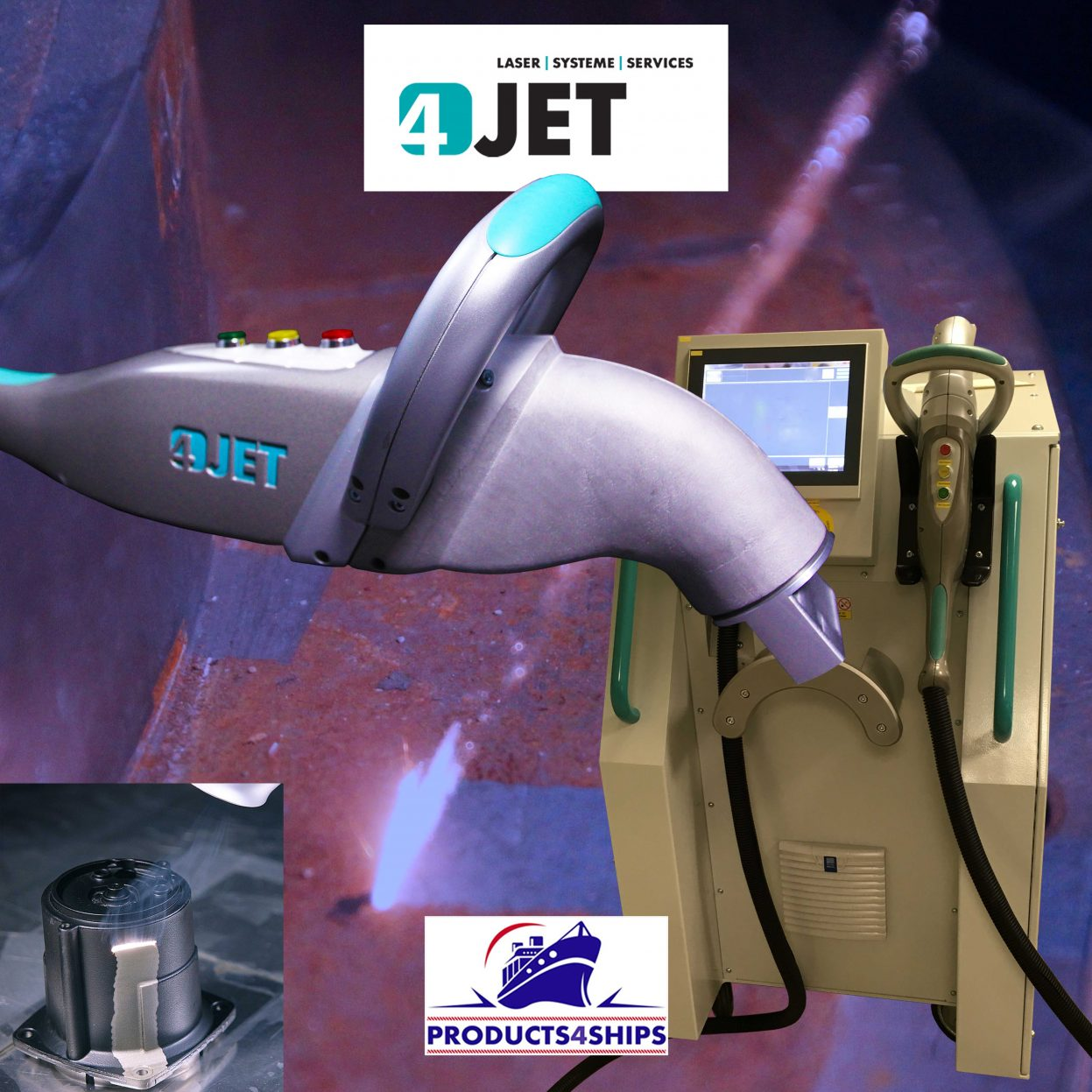 Products4Ships 4JET Jetlaser lasercleaning