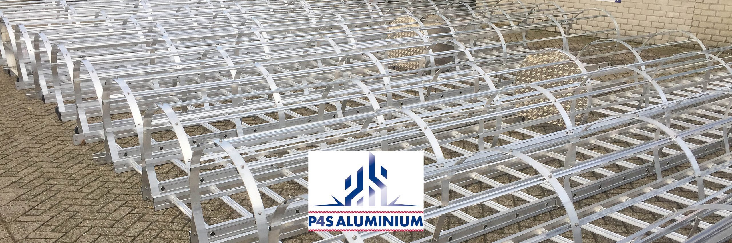 P4S Aluminium safety cage ladders