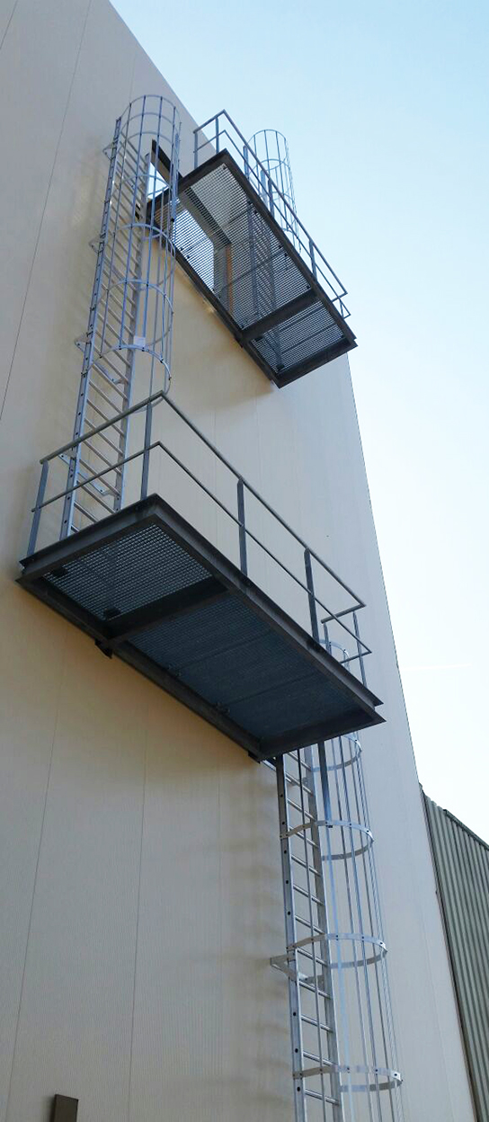 P4S Safety cage ladders